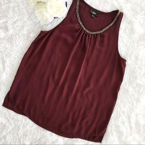Mossimo Supply Co. Tops - Mossimo sleeveless top beaded neckline